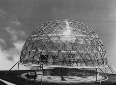 A model of the Geodesic Dome House, designed by American inventor Buckminster Fuller.    Keystone/Getty Images: