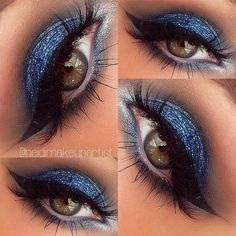 Blue Glitter Eyeshadow.