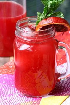 Panera-Inspired Blood Orange Lemonade Recipe | As brightly-colored as a garden tulip, this might just be the best lemonade recipe ever.