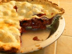 Homemade Cherry Pie--It's what's for dessert!  Easy, tasty and tart, you're going to love it.