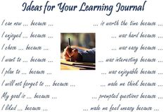 Ideas for Your Learning Journal (word doc)