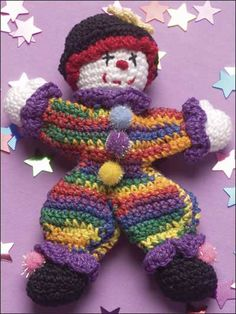 Tiny the Clown ~ free pattern ᛡ