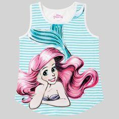 2f44ecf47c6929 Girls  Ariel Tank Top - White XL Disney Princess Ariel