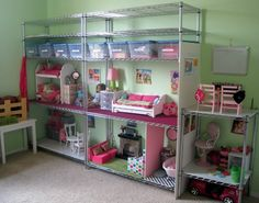 RePurpose: Easy alter Doll House or Action Figure Hideout. You could really make this cute with some fabric walls. When it's outgrown great for the garage, craft room or attic. Great if either girl gets into American girl dolls
