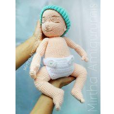 Custom doll - Reborn baby Amigurumi personalizado ✏✂ @mirthamigurumis Gorrito de @knitbydad #Amigurumi #crochet #Ecuador #Guayaquil #tener #Gaby #customdoll