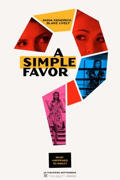 Watch the teaser trailer for 'A Simple Favor,' a murder-mystery thriller starring Anna Kendrick and Blake Lively from 'Ghostbusters' helmer Paul Feig. Anna Kendrick, Blake Lively, Graphic Design Posters, Graphic Design Inspiration, Game Design, Peliculas Online Hd, Plakat Design, Kino Film, In Vino Veritas