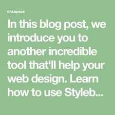 In this blog post, we introduce you to another incredible tool that'll help your web design. Learn how to use Stylebot to Manipulate CSS.