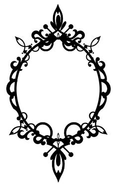 097 Ornate Oval Frame Cutout02 by ~Tigers-stock on deviantART*vector*