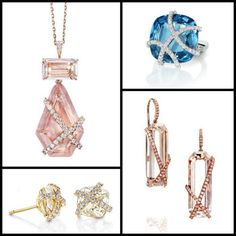 Assorted jewels by NYC jewelry designer Rachael Sarc