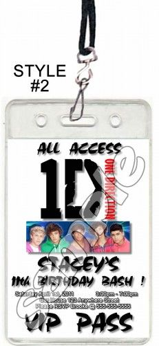 One direction vip passes with lanyards party pinterest vip one direction set of 12 vip party invitation passes or party favors m4hsunfo