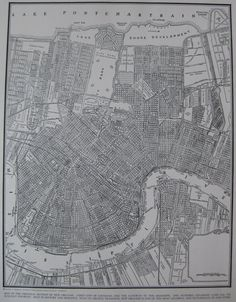 MAP of NEW ORLEANS Vintage 1940s Map 1944 Atlas by plaindealing, $9.95