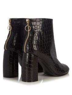 Block-heel faux-leather ankle boots   Stella McCartney   MATCHESFASHION.COM US