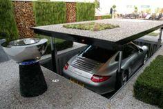A futuristic garage in todays world...