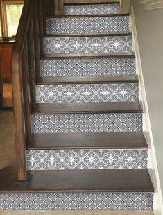 Stair riser Stickers, just peel and stick for a stunning stairs! www.snazzydecal.etsy.com