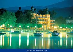 Velden on Lake Wörthersee - a lively lakeside resort with its famous Castle Schlosshotel Lake Garda, Lake Tahoe, Lakeside Resort, Klagenfurt, Famous Castles, Lake Mountain, We Remember, Lake Como, Budapest