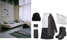 """a couple shades of gray"" by graceives ❤ liked on Polyvore"