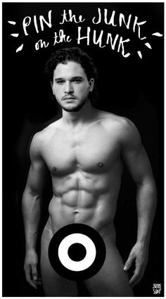 NSFW Pin the Junk on the Hunk Jon Snow Kit Harrington Bachelorette Party Game by junkshopco