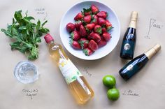 Lieblingsgetränk: Sommerpunsch à la Hugo - Ideen rund ums Haus - Water Infusion Recipes Alcoholic Drinks, Beverages, Cocktails, Hot Sauce Bottles, Gin, Grilling, Mango, Brunch, Food And Drink