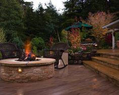 landscape, deck, fire pit