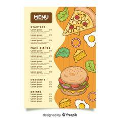 Cafe Menu Design, Food Menu Design, Food Packaging Design, Packaging Design Inspiration, Menu Fast Food, Fast Food Logos, Logo Food, Food Menu Template, Menu Templates