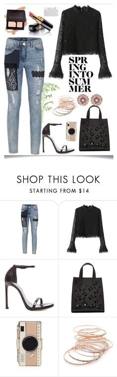 """""""chic spring look"""" by rousou on Polyvore featuring WithChic, Stuart Weitzman, Kenzo, Chanel, Kate Spade, Red Camel and Ted Baker"""