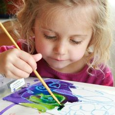 Try melting crayons art on canvas panels then add watercolors for a vibrant watercolor resist artwork. This art project is equally great for kids & adults.