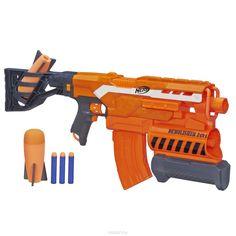 Nerf Бластер N-Strike Elite: Demolisher, 2в1, с патронами, цвет: оранжевый