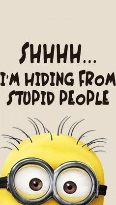 Minions stupid people #iphone #wallpaper