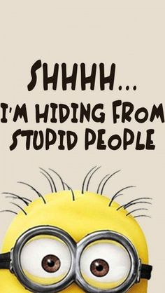 Minions stupid people #iphone #wallpaper
