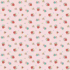 Riley Blake Designs The Simple Life Simple Floral Pink by Tasha Noel
