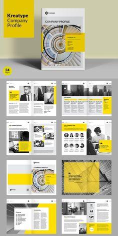 Corporate Brochure Templates for Adobe InDesign - Visual Arts & Identity Company Brochure Design, Company Profile Design, Graphic Design Brochure, Corporate Brochure Design, Booklet Design, Creative Brochure, Brochure Layout, Brochure Template, Design Templates