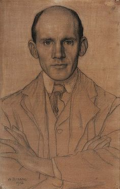 William Strang, 1902, chalk and wc on paper