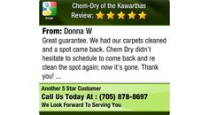 Great guarantee. We had our carpets cleaned and a spot came back. Chem Dry didn't hesitate...