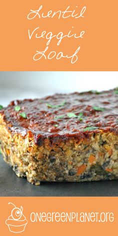 Lentil Veggie Loaf [Vegan, Gluten-Free] … – Trick to a Gout-Free Life! Veg Recipes, Whole Food Recipes, Vegetarian Recipes, Vegan Lentil Recipes, Recipies, Cooking Recipes, Vegetarian Cooking, Vegan Loaf, Lentil Loaf Vegan