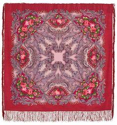 russian shawl 49 woolen with silk fringe genuine by LibelluleDO