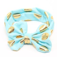 Gold Baby Headband Messy Bow Baby Head wraps Big Bow Baby Headband Head Wrap Newborn Infant Photo Prop Hair Accessories
