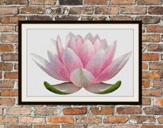 Lotus Blossom  Counted Cross Stitch Pattern by WooHooCrossStitch