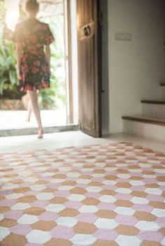 """in- and outdoor rug """"Tiles Sand"""" Tiles, Rug Runner, Tile Rug, Outdoor Rugs, Rugs, Home, Brita, Contemporary Rug"""