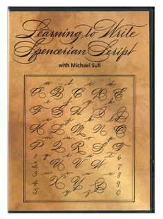 Following a brief history of the hand, Michael Sull gives letter by letter instruction of Spencerian. This dvd, coupled with Michael's Learning to Write Spencerian book, provide comprehensive instruction on the Spencerian hand. Running time: 60 minutes.