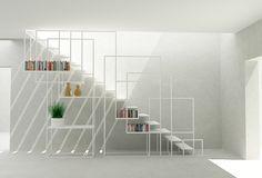 DesignWeldCST5 - Amir Zinaburg (Design + Weld) Escalera / estanteria de hierro www.fustaiferro.com #diseño #interiorismocomercial
