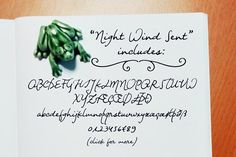 Night Wind Sent | handwritten font by Ana's Fonts on @creativemarket