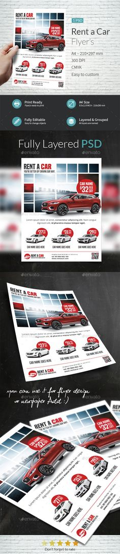 Automotive Car Sale Rental Flyer Ad Template Vol4 Cars - car flyer template
