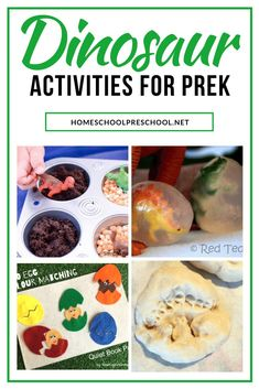 If you have a preschooler that is interested in dinosaurs, why not take that interest and turn it into a dinosaur preschool theme in your homeschool! Dinosaur Theme Preschool, April Preschool, Dinosaur Activities, Preschool Learning Activities, Preschool At Home, Preschool Themes, Preschool Printables, Hands On Activities, Creative Activities For Kids