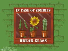 In Case Of Zombies T-Shirt - http://teecraze.com/in-case-of-zombies-t-shirt-3/ -  Designed by tombst0ne    #tshirt #tee #art #fashion #clothing #apparel