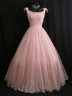 Vintage 1950's 50s Bombshell Emma Domb PINK