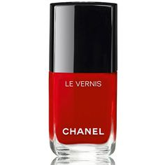 Chanel LE VERNIS - LE ROUGE COLLECTION N&1Longwear Nail Colour (€25) ❤ liked on Polyvore featuring beauty products, nail care, nail polish, makeup, nail, cosmetics, chanel nail color, chanel nail lacquer, chanel nail polish and chanel
