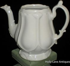 REDUCED Early English White Ironstone Tea by 4HollyLaneAntiques