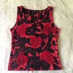 """Mezon Hand Dyed & Decorated Tank NWOT Stunning hand dyed and decorated tank by Mezon. Super supportive and stretchy. Unique and gorgeous design. Size small. Length 19"""". Bust 32"""" with no stretch and lying flat. Brand new without tags. ❌ NO TRADES ❌ NO PP❌ NO LOWBALLING ❌ Mezon Tops Tank Tops"""