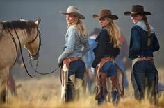 Three Texas Cowgirls