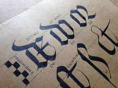 Gemma Black (The Passionate Pen 2015 Calligraphy Conference) Passionate_Biting_bows
